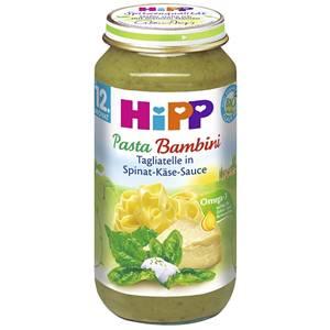 Bio Hipp Tagliatelle in Spinat Käse Sauce