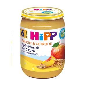 Bio Hipp Apfel Pfirsich mit 7-Korn