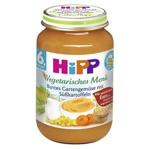 Bio Hipp Buntes Gartengemüse mit Süsskartoffeln
