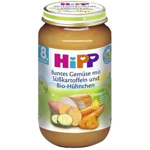 Hipp Bio Gemüse mit Süsskartoffeln und Bio Hühnchen 220g