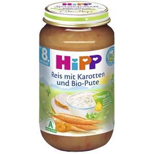 Bio Hipp Reis mit Karotte und Bio Pute