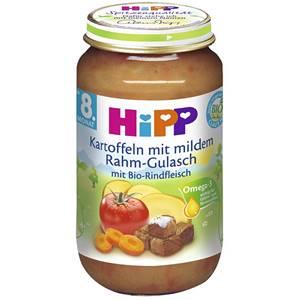 Bio Hipp Kartoffel mit mildem Rahm Gulasch 220g
