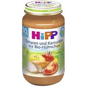 Bio Hipp Tomaten und Kartoffeln mit Bio Hühnchen