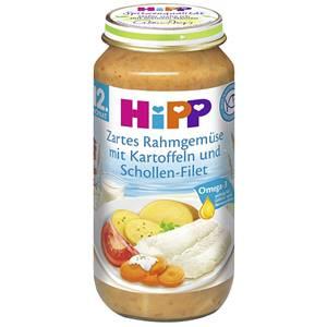 Hipp zartes Rahmgemüse mit Kartoffeln und Schollen Filet