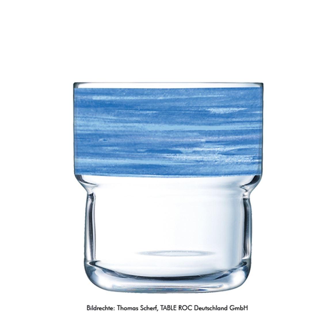 Becherglas Serie Brush blau 220ml