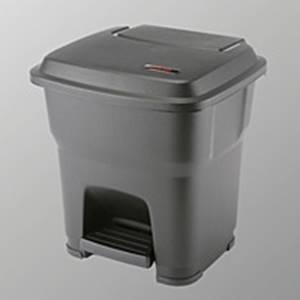 Hera Pedalbehälter schwarz - 35 Liter