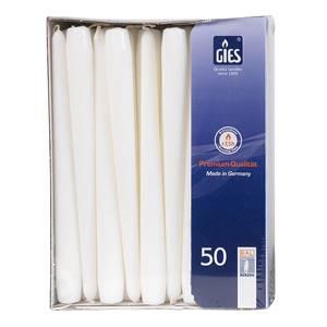 Spitzkerzen weiß 50 Stück