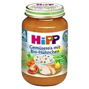Bio Hipp Gemüsereis mit Bio-Hühnchen 190g