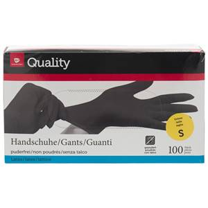 Latex-Handschuhe puderfrei schwarz S 100 Stück