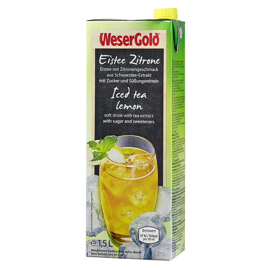 Wesergold Eistee Zitrone