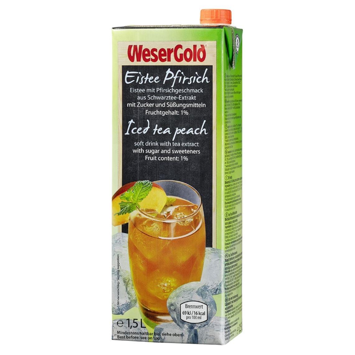 Wesergold Eistee Pfirsich