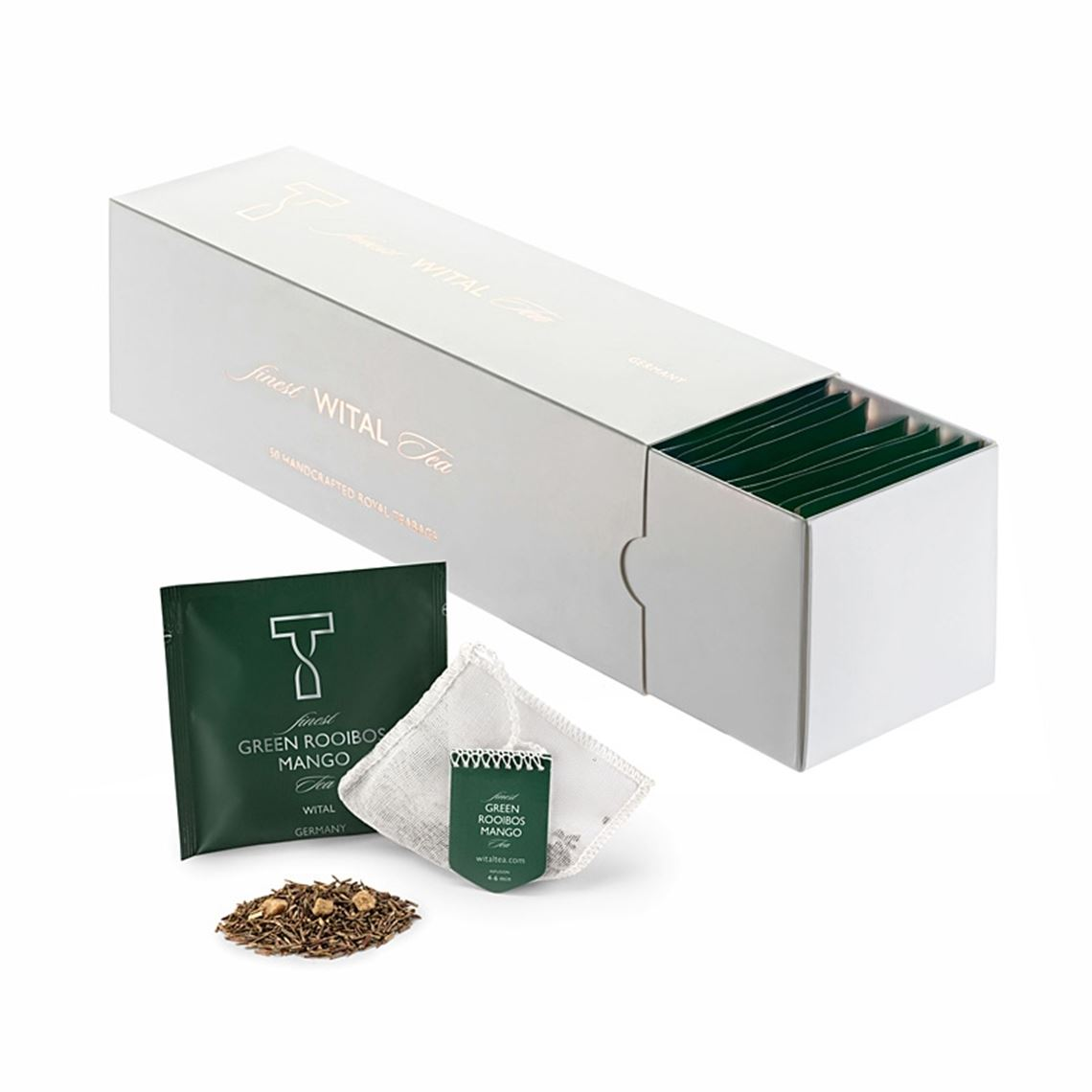 Wital Finest tea HoReCa Green Rooibos Mango 50x2,5g