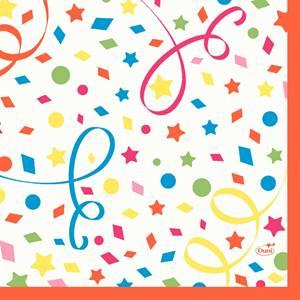 Zelltuch-Servietten Confetti 33x33 250 Stück