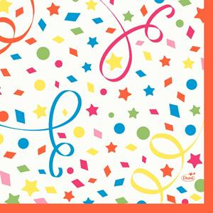 Zelltuch Servietten Confetti 33x33 50 Stück