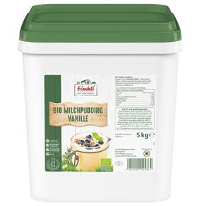 Frischli Bio Milchpudding Vanille 1,5% 5kg