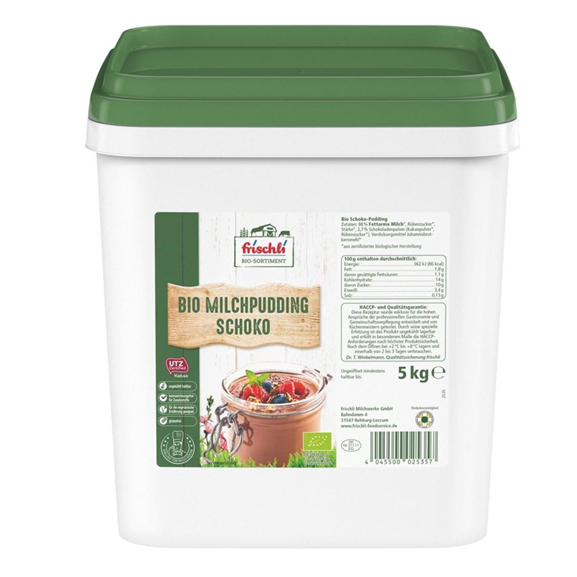 Frischli Bio Milchpudding Schok.1,5% 5kg