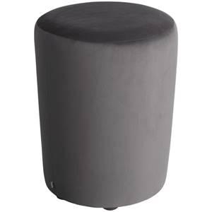 Hocker Lenny 42x47 cm (ØxH) taupe zylinderförmig