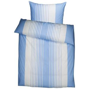 Bettwäsche Memphis 135x200 cm (BxL), 80x80 cm (BxL) blau/weiß