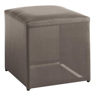 Hocker Loggia 46x46x46 cm (BxTxH) Sitz taupe, Gestell grau quadratisch