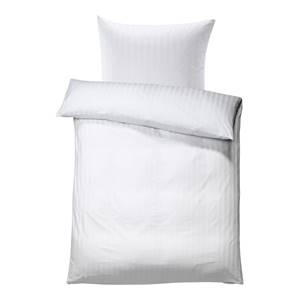Bettgarnitur Satina Streifen breit 20 mm 135x200 cm (BxL), 80x80 cm (BxL) weiß