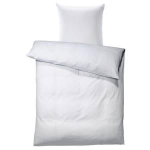 Bettgarnitur Satina Streifen schmal 10 mm 135x200 cm (BxL), 80x80 cm (BxL) weiß