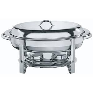 Chafing-Dish Ovale 5l, 56x32x30 cm (BxTxH) silber oval