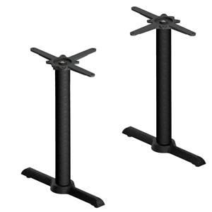 Doppeltischsäule Regulo 56x13x72 cm (BxLxH) schwarz rechteckig