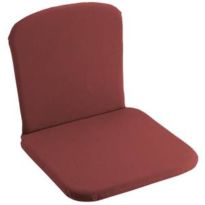 Sitzkissen Lineares mit Rückenpolster 41x38.5x3 cm (BxLxH) bordeaux