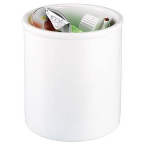 Tischabfallbehälter Porzellan 12x12 cm (ØxH) weiß rund