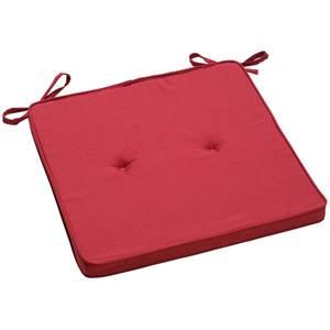 Sitzkissen Alabama 41x41x3 cm (BxLxH) burgund quadratisch