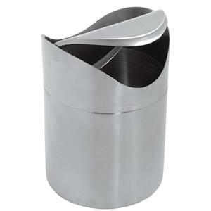 Tischabfall-Behälter Bordun 12x16.5 cm (ØxH) silber rund