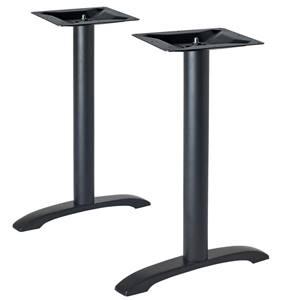 Tischsäule Duo 54x6x72 cm (BxLxH) schwarz
