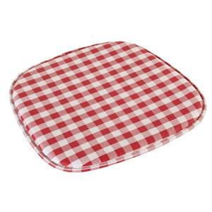 Sitzkissen Square 38x41x2.5 cm (BxLxH) rot/weiß rechteckig