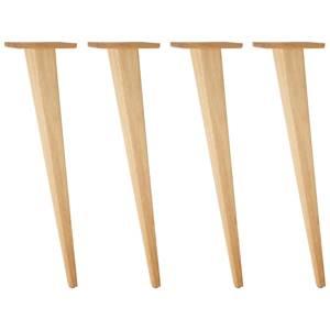 Tischbein Duneo hoch 73.4 cm (H) eiche/natur kegelförmig