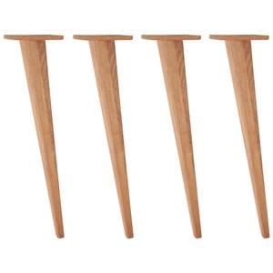 Tischbein Duneo hoch 73.4 cm (H) buche/tabak kegelförmig