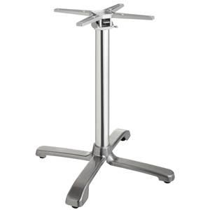 Tischsäule Regulo klappbar 51x51x72 cm (BxLxH) silber