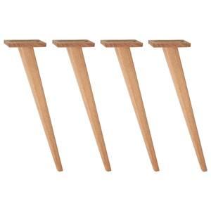Tischbein Duneo niedrig 42.9 cm (H) buche/tabak kegelförmig