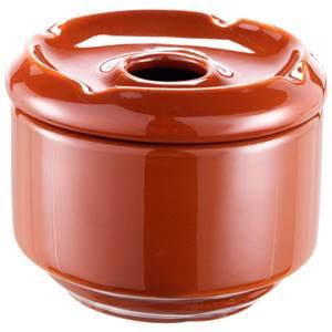 Aschenbecher Porzellan 10.5x7.5 cm (ØxH) braun rund