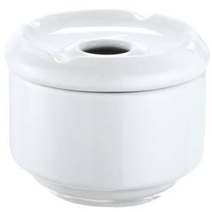 Aschenbecher Porzellan 10.5x7.5 cm (ØxH) weiß rund