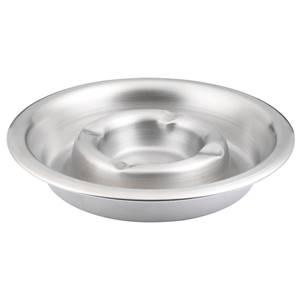 Aschenbecher Tin 14x2 cm (ØxH) silber rund