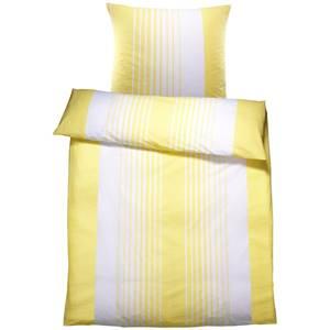 Bettwäsche Memphis 135x200 cm (BxL), 80x80 cm (BxL) gelb/weiß