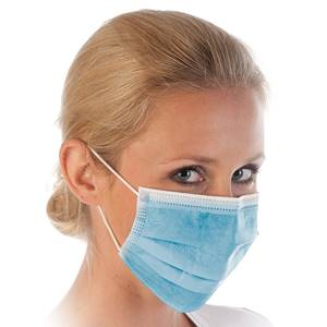 Mund-Nasen-Schutz 3-lagig blau
