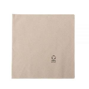 rPapier-Servietten 33 x 33 cm, 2-lagig, 1/4 Falz, ungebleicht