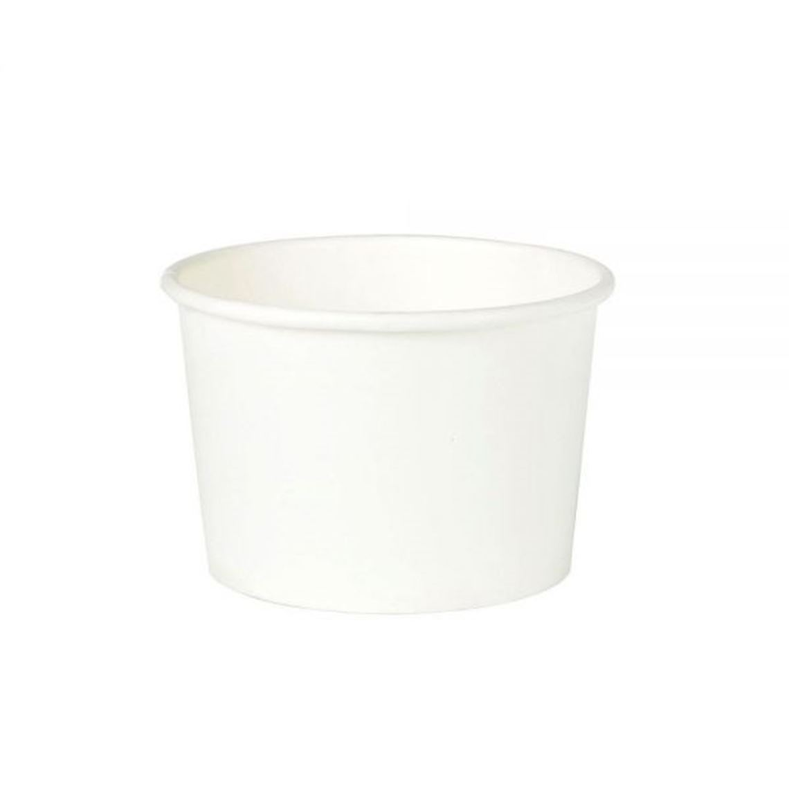 Karton-Universal-Becher 200 ml / 8 oz, Ø 90 mm, weiß