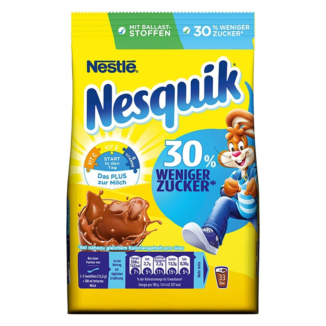 Nesquik Zuckerreduziert Nachfüllpackung