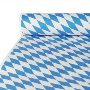 Papiertischtuch mit Damastprägung 10 m x 1 m 'Bayrisch Blau'