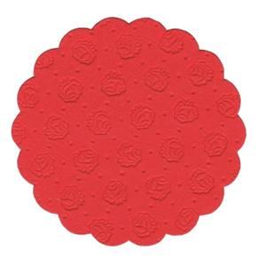 Tassen-Untersetzer rund Ø 9 cm rot 9-lagig
