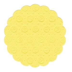 Tassen-Untersetzer rund Ø 9 cm gelb 9-lagig