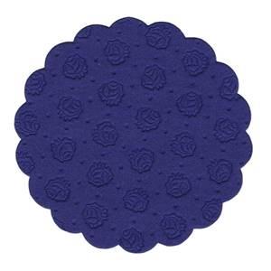 Tassen-Untersetzer rund Ø 9 cm dunkelblau 9-lagig