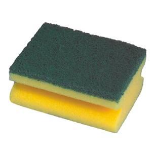 Topfreiniger, Schwamm 4,4 cm x 9,5 cm x 7 cm gelb mit Griffrille